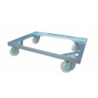 Stainless Steel Trolley for Crates - 4 x 4