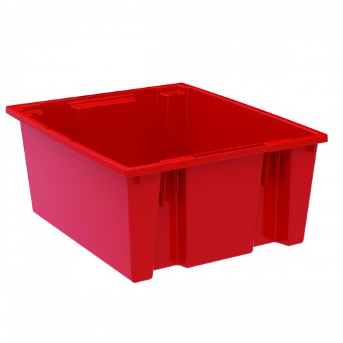 "Red Container-23.5"" x 19.5"" x 10"""