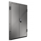 Stainless Steel Double-Leaf Hinged Door