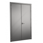 Stainless Steel Double-Leaf Pivot Door