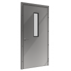 Stainless Steel Single-Leaf Pivot Door
