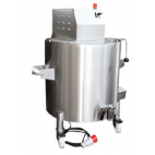 Heavy Duty Double Wall Cooking Kettle with top mixer