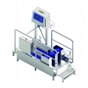 High-Heeled Shoe Washer and Hand Disinfection Unit with Access Control