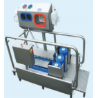 High-heeled shoe washer and hand washer/disinfection unit