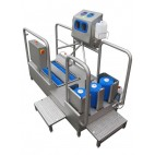 High & Low-heeled shoe washer and hand disinfection unit