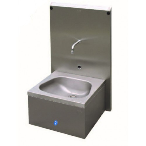 Hand Wash Basin with Sensor Cell and Splash Back