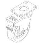 "Caster W/Swivel Lock, EMG-32, Mini-32, 5"" Wheel PC2075"
