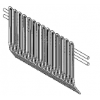 Back Wire Comb Scraper for Biro Tenderizer