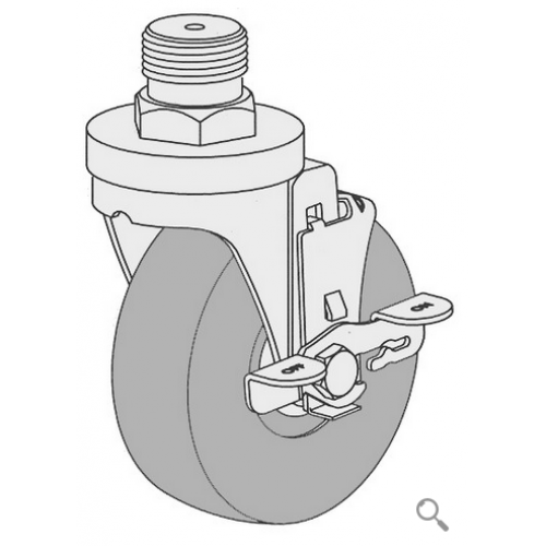 Hobart 4246 Caster, with Swivel Wheel and Lock