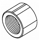 Front Shaft Nut-LH Thread