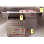 Patty-O-Matic Protege Feed Tray with attached Mold Plate Guard