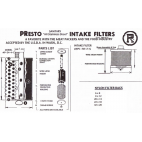 Parts for Presto Stainless Steel Intake Filter