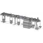 Plate Conveyor for Intestines (Pig Slaughterhouse)