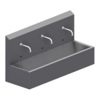 3 Person Wall Mount Sink with Photocell