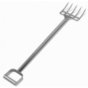 """44"""" Stainless Steel Fork - 4 Short Tines"""