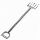 "44"" Stainless Steel Reinforced Fork - 5 Short Tines"