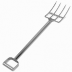 "44"" Stainless Steel Reinforced Fork - 4 Tines"