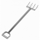 """44"""" Stainless Steel Reinforced Fork - 4 Short Tines"""
