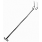 "60"" Stainless Steel Reinforced Fork - T Handle"