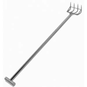"60"" Reinforced Stainless Steel Fork - 4 Tines"