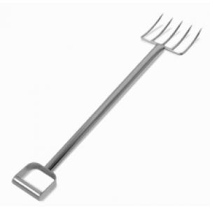 "44"" Stainless Steel Fork - Shorter Tines"