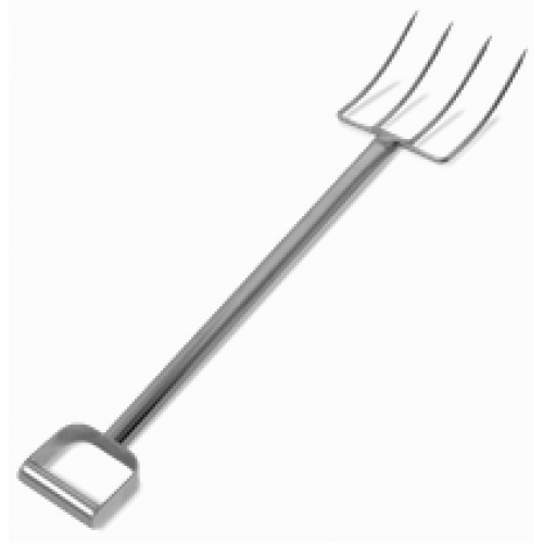 "44"" Stainless Steel Fork - 4 Tines"
