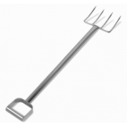 "44"" Stainless Steel Fork - 4 Short Tines"