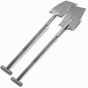 "39"" Stainless Steel Square Shovel - T Handle"