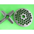 "#52 x 1/2"" Plate AND Knife for Biro Berkel Hobart 4352 4552 4852 Meat Grinder"