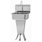 Pedestal Sink with Single Foot Pedal