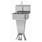 Padestal Sink with Double Foot Pedal