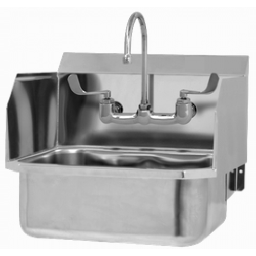 Wall Mount Manual Sink with Side Splashes