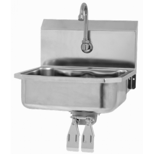 Wall Mount Sink with Double Knee Valve