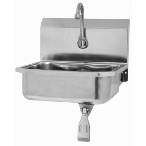 Wall Mount Sink with Single Knee Valve