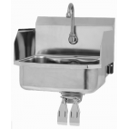 Wall Mount Sink with Double Knee Valve and Side Splashes