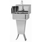 Padestal Sink with Sensor and Side Splashes