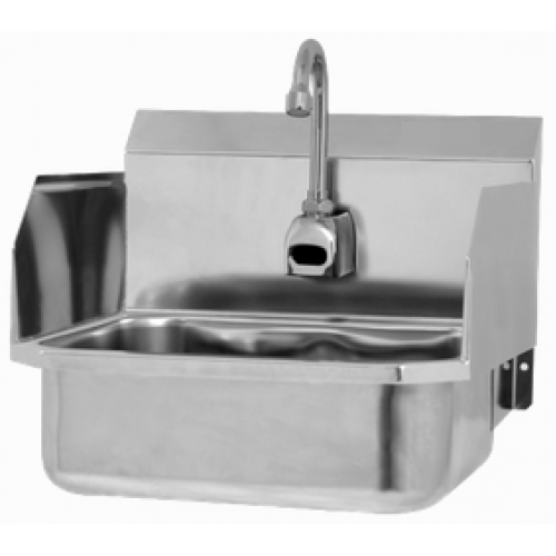 Wall Mount Sink with Sensor and Side Splashes