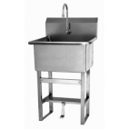 Floor Mount Utility Sink with Single Foot Pedal