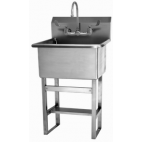 Floor Mount Utility Sink with Manual Faucet