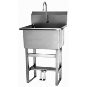 Floor Mount Utility Sink with Double Foot Pedal