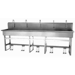 Double Valve 5-Person Sink