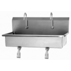 2 Person Wall Mount Sink with Single Knee Valve