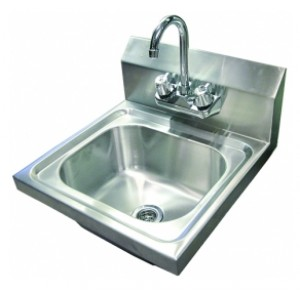 "Wall Mount Hand Sink with 4"" Faucet"