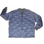 Freezer jacket quilted  zipper close short blue