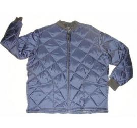 Freezer jacket quilted  zipper close short blue