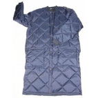 Freezer coat quilted snap close blue