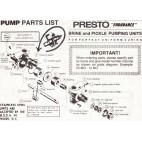Presto Pump List 12 NO