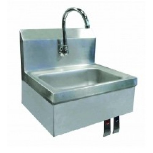 Hand Sink with Knee Valve, Faucet And Drain