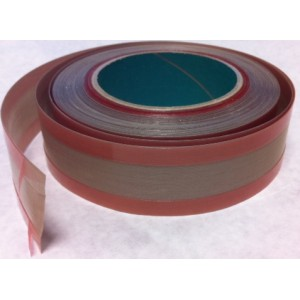 """Seal Bar Tape 1-1/2"""" wide x 18 yards (54')  3/8"""" adhesive on each edge leaving 3/4"""" clear center"""