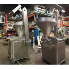 Used Risco Brevetti Model RS3000 Vacuum Filler With Dumper